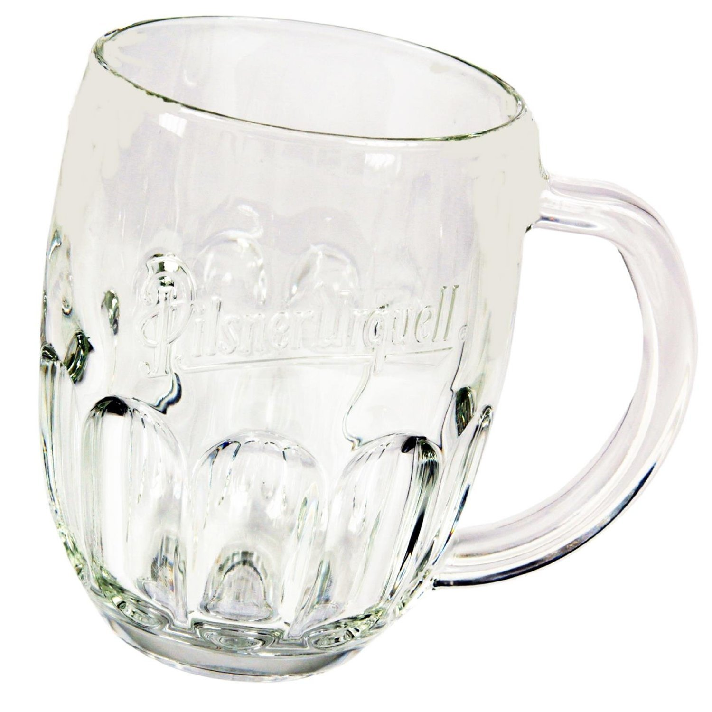 Pilsner Urquell Beer Mugs Set Of 2 Pieces Pint, 0.5 Litre Lined