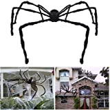 Unomor 7.5 ft Giant Halloween Spider Largest Scary Hairy Spider for Outdoor Halloween Decorations or Haunted House Decor…
