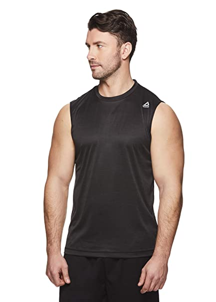 2b75801e Reebok Men's Muscle Tank Top - Sleeveless Workout & Training Activewear Gym  Shirt - Charger Black