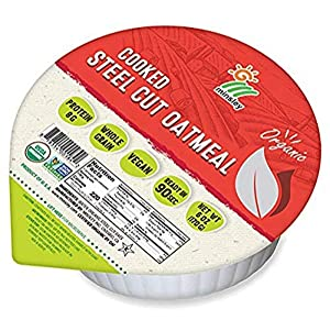 Minsley Cooked Organic Steelcut Oatmeal, 6oz Bowl (Pack Of 12), 6 Oz (Pack Of 12)