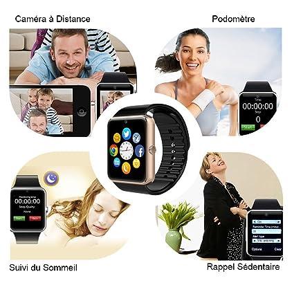 mokebao portátil Bluetooth Smart Watch GT08 inteligente salud muñeca reloj teléfono con tarjeta SIM ranura para Android Samsung, HTC, LG, ...