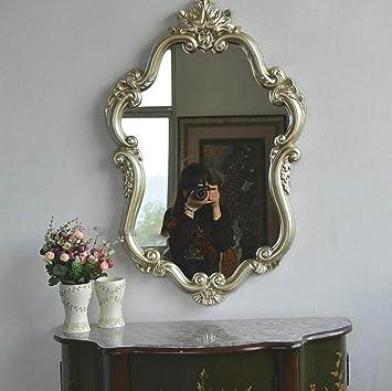 YMXLQQ Bad Spiegel Wandhalterung Dressing Eingang Spiegel Vintage ...