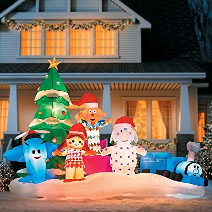 rudolph the rednose reindeer island of misfit toys christmas inflatable - Rudolph And Friends Christmas Decorations