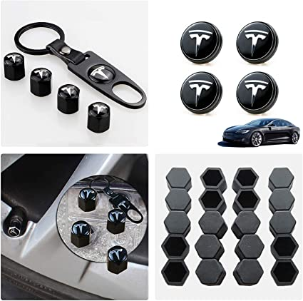 Aero Wheel Cap Kit Car Styling Vehicle Accessories Model S /& Model X 20 Lug Nut Cover Hub Cover Kit for Tesla Model 3 4 Hub Center Cap