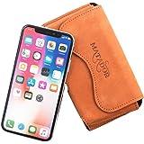 Matador Apple iPhone X Ledertasche Handytasche Gürteltasche ECHT Vintage Leder Hülle Case mit Gürtelclip, Schlaufe und Magnetverschluss Rost Hell Braun
