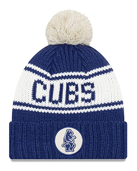 2b8716d603e ... closeout chicago cubs new era mlb 9twenty cooperstown retro patch cuffed  knit hat 1914 7c074 e39be