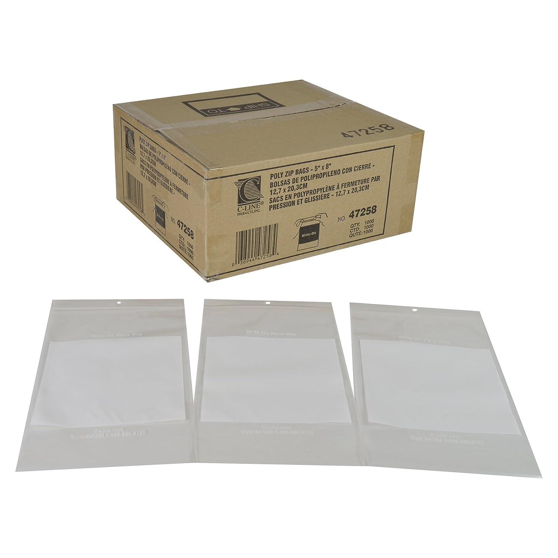 C-Line Write-On Reclosable Small Parts Storage Bags, 4 x 6 Inches, 1000 per Box (47246)