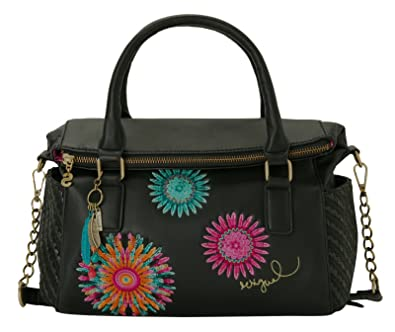 8233b1cc30 Desigual Bols Liberty Far West Negro: Amazon.co.uk: Shoes & Bags