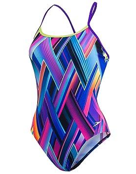 c0f9a4ef1aad Speedo - Bañador de Mujer con Espalda Cruzada, Mujer, Color Violet ...