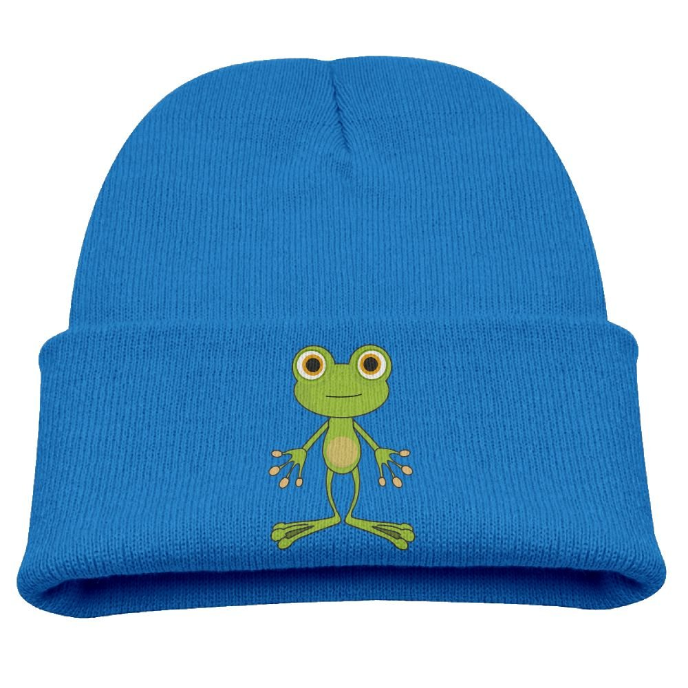 Engchengx Cute Frog Childrens Knit Cap Black