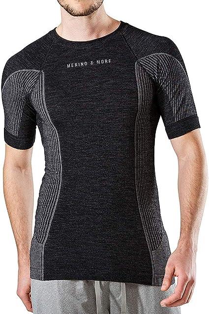 Atmungsaktiv Sport Fitness 41/% Merino-Wolle Unterw/äsche SS11710 Unterhemd Thermo Brubeck Merino Herren Kurzarm Funktionsshirt