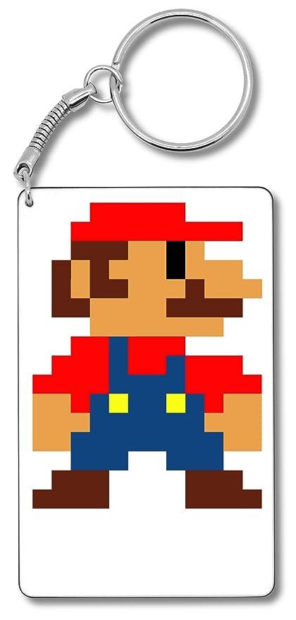 Pixel Super Mario Llavero Llavero: Amazon.es: Equipaje
