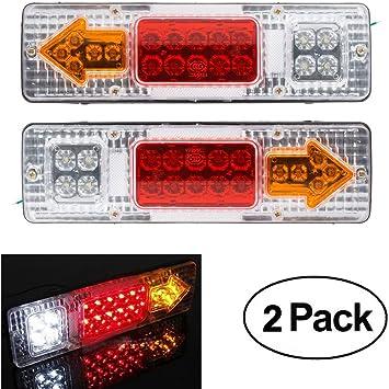 Posteriori Luci Posizione LED Lampadin Indicatori di Parcheggio per Veicolo Rimorchio Caravan Camion Trattore Autocarro 12-24V Blocchi fari posteriori Bianco giallo
