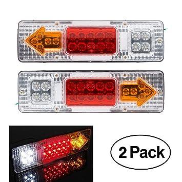 6x 12v Led White Marker For Transporter Truck Trailer Lorry Light Side Lamp