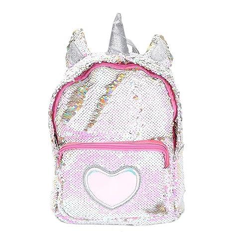 nuovo di zecca 5fc4f 8357f Zaino paillettes, paillettes zaino unicorno zaino carino trendy per bambini  scuola scuola zaino ragazza zaino ragazza carina (1)