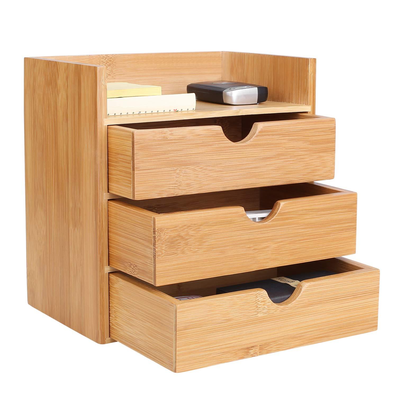 20 x 13 x 21 cm Homfa in bamb/ù Organizer da scrivania