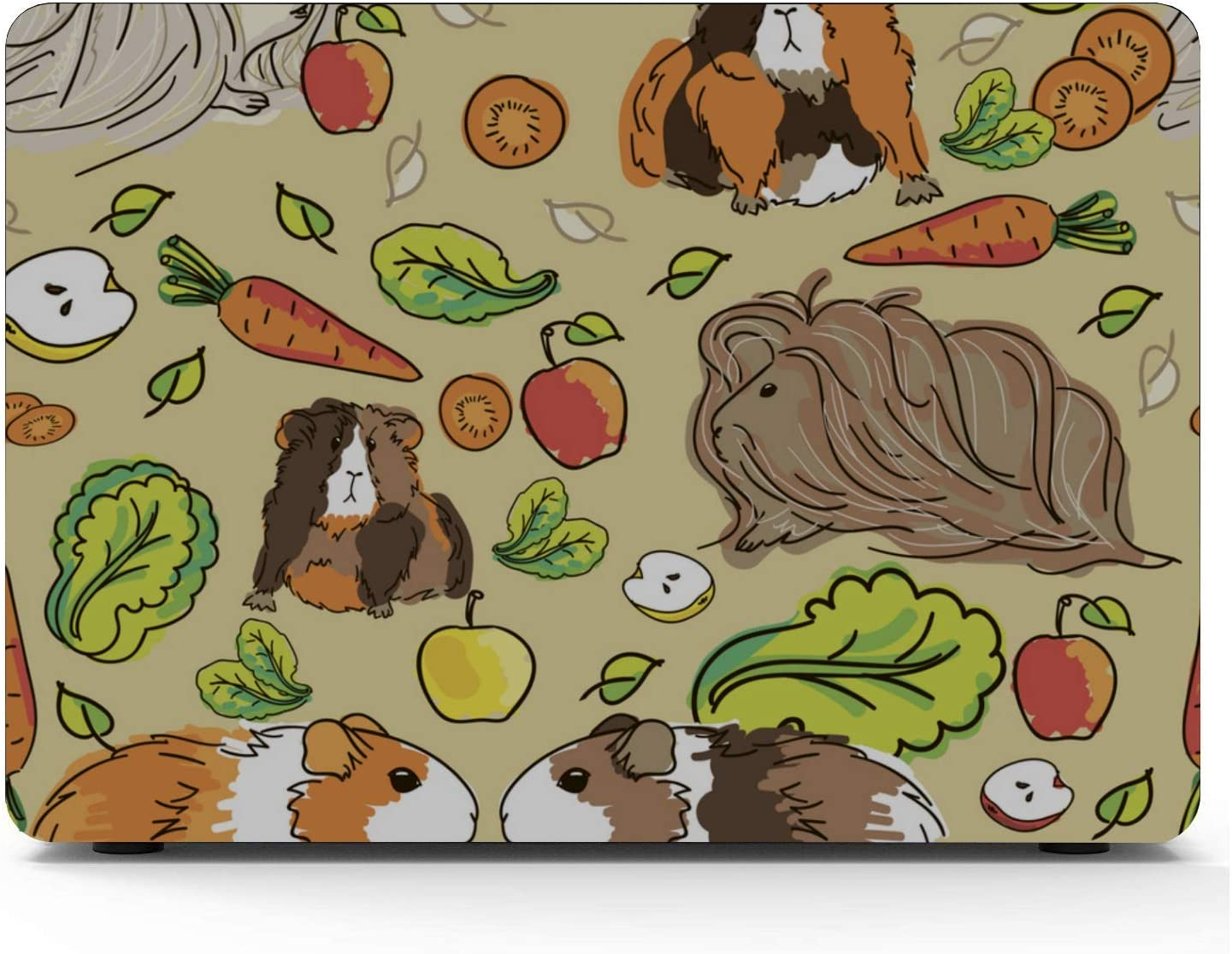 Mac Laptop Cover Cartoon Cute Guinea Pig Plastic Hard Shell Compatible Mac Air 11 Pro 13 15 Laptop Cover Protection for MacBook 2016-2019 Version