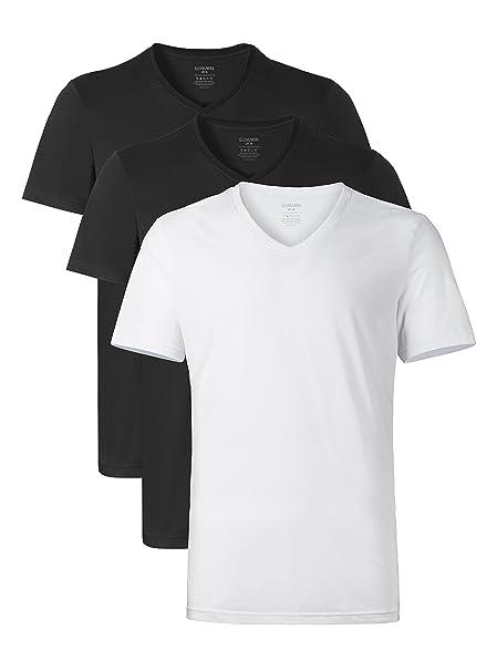 069d561a51f Genuwin 3 Pack Men s Vests 100% Cotton Undershirts - Ultra Soft V-Neck Vest