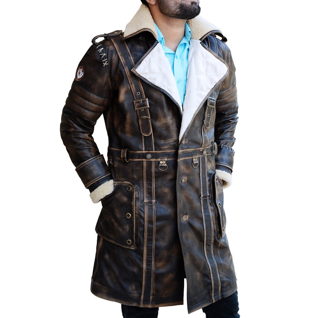 Elder Battle Brown Fur Collar Maxson Fall Long Trench Coat Out 4 Jacket The Custom Jacket