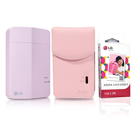 impresora + Sticky libro + caso Set] nuevo LG impresora de fotos ...