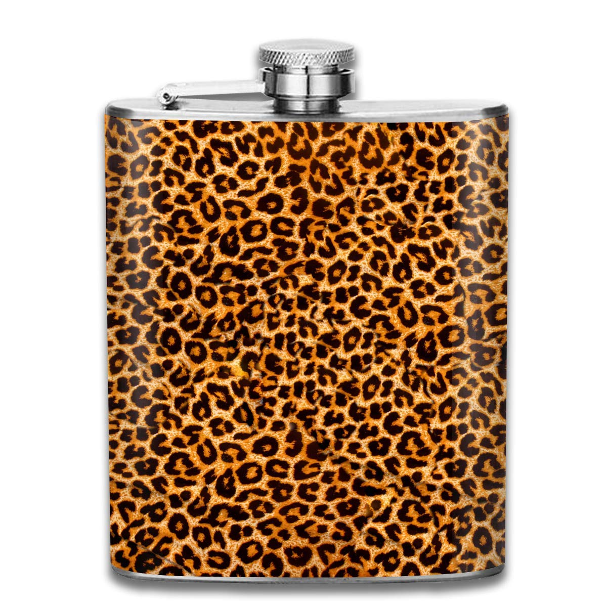 Pot Hip Flask Leopard Grain Steel Flask Rum Container Flask Pocket for Adults
