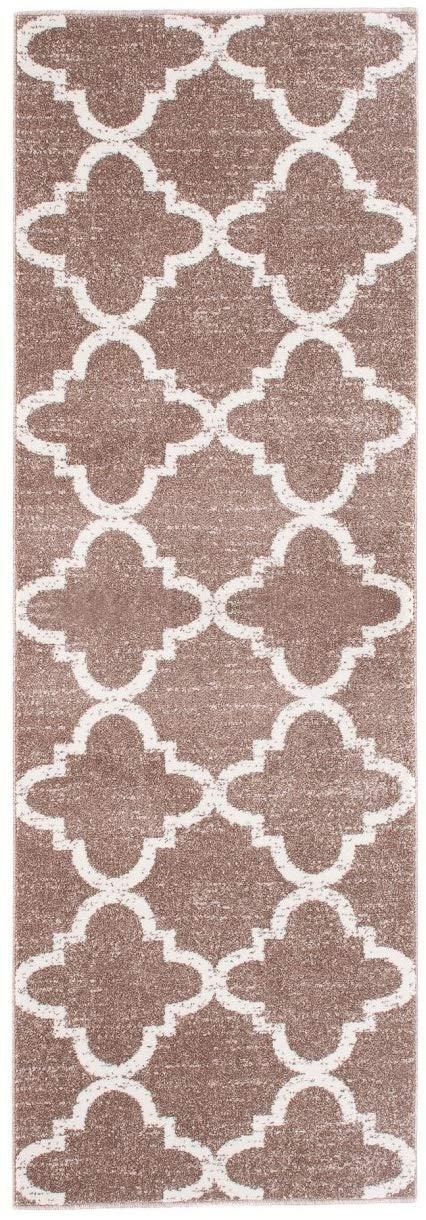 Tapiso LÄUFER MODERN BRÜCKE Flur Teppich - Muster MAROKKANISCH BEIGE - Calm Kollektion 100 x 150 cm
