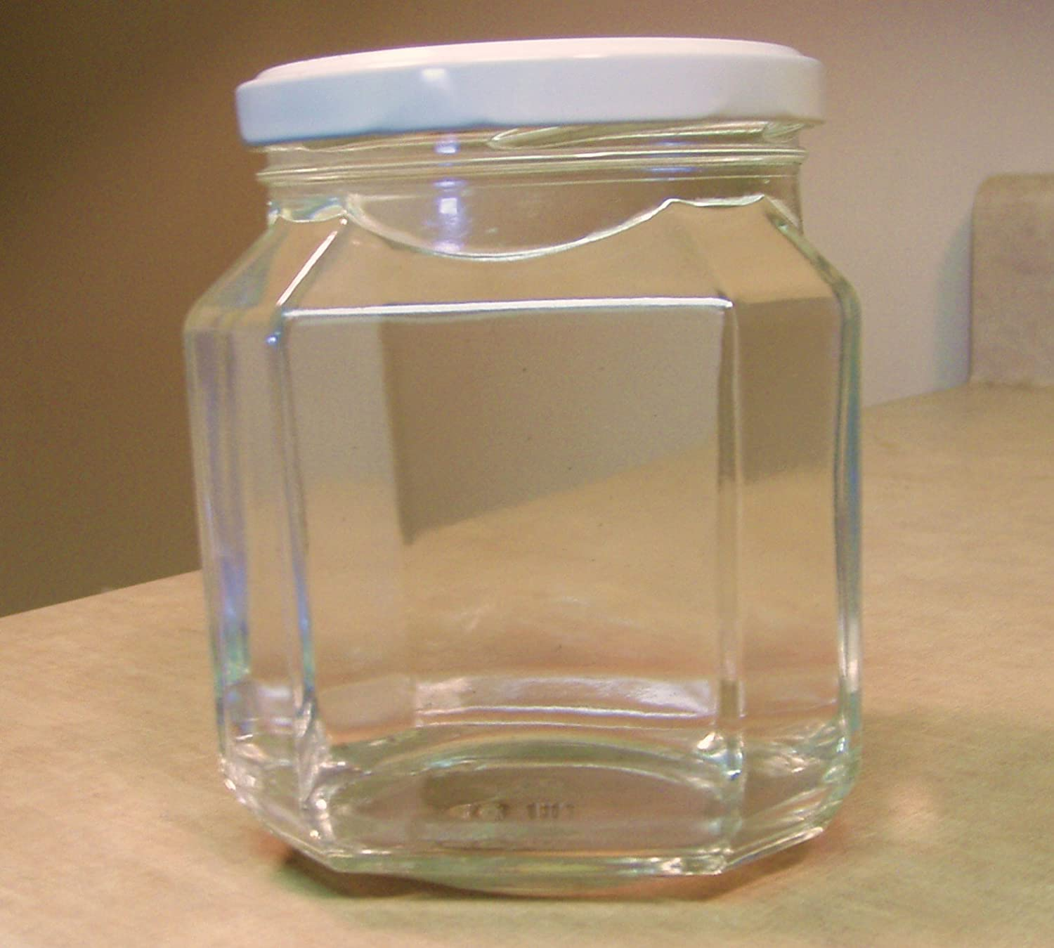 Food and Heat Safe Italian Faceted Jar - 20 Ounce - 6 Pieces Candle, Food, Storage and Canning