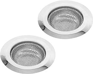 Kitchen Sink Drain Strainer - 4.5'' Diameter, 304 Stainless Steel Sink Strainer, 2 PCS.