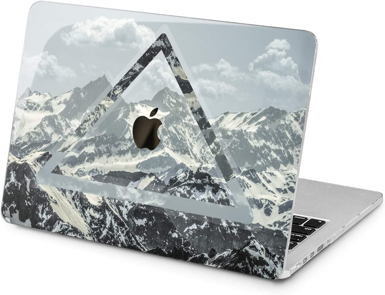 Lex Altern Hard Case for Apple MacBook Pro 15 Air 13 inch Mac Retina 12 11 2020 2019 2018 2017 2016 Mountains Design Nature Laptop Girl Triangle Protective Print Geometric Arctic Snow Plastic Shell