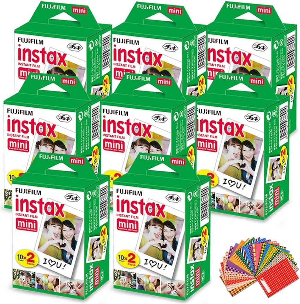 FujiFilm Instax Mini Instant Film 8 Pack (8 x 20) Total of 160 ...