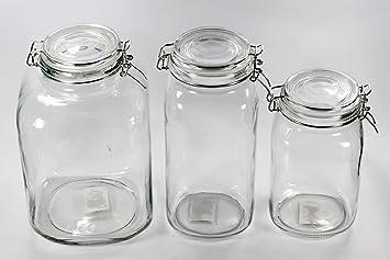 Bonboniere Bonbonglas Vorratsglas Vorratsgläser Gebäckdose Keksdose 3,0 l