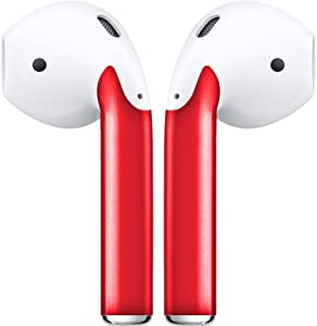 AirPod Skins Stylish and Protective Wraps - Covers for Your Apple AirPods (Red)