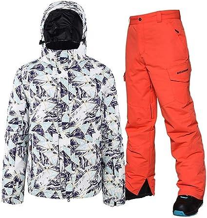 YUMUYMEY Hiver Hommes Ski Costume Super Chaud Vêtements de