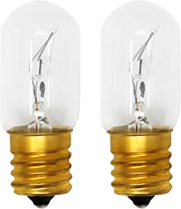 2-Pack Replacement Light Bulb for Whirlpool WMH1163XVS1 Microwave - Compatible Whirlpool 8206232A Light Bulb