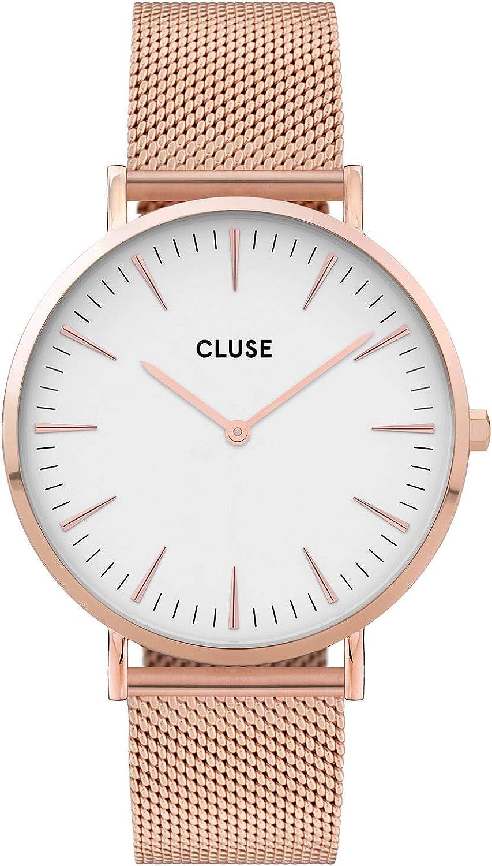 CLUSE Reloj Analógico para Mujer de Cuarzo con Correa en Acero Inoxidable CW0101201001