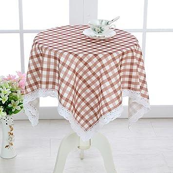 ZHUOBU Mantel a prueba de agua enrejado mesita de noche cubierta del gabinete cubierta de toallas multiusos paño cubierta del refrigerador toalla pequeña ...