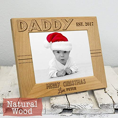 Amazoncom Personalized Picture Frames For Daddy Christmas Gift
