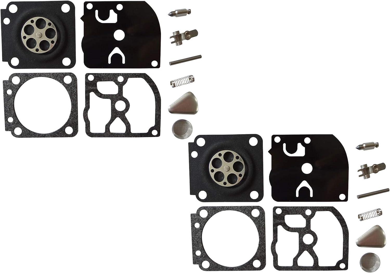 Kit de reparación y reconstrucción del carburador sustituye a ZAMA RB-46 para Motosierra Homelite 200 ZAMA C1Q-H17 (Paquete de 2)
