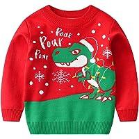 Niños Sudadera de Suéter de Navidad Jersey de Punto Bebés Niñas Casual de Algodón Ciervo Pull-Over para Invierno…