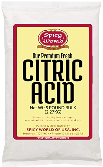 Pure Citric Acid, 5 Pound - Food Grade & Non-GMO- Natural Food  Preservative, All Purpose Cleaning