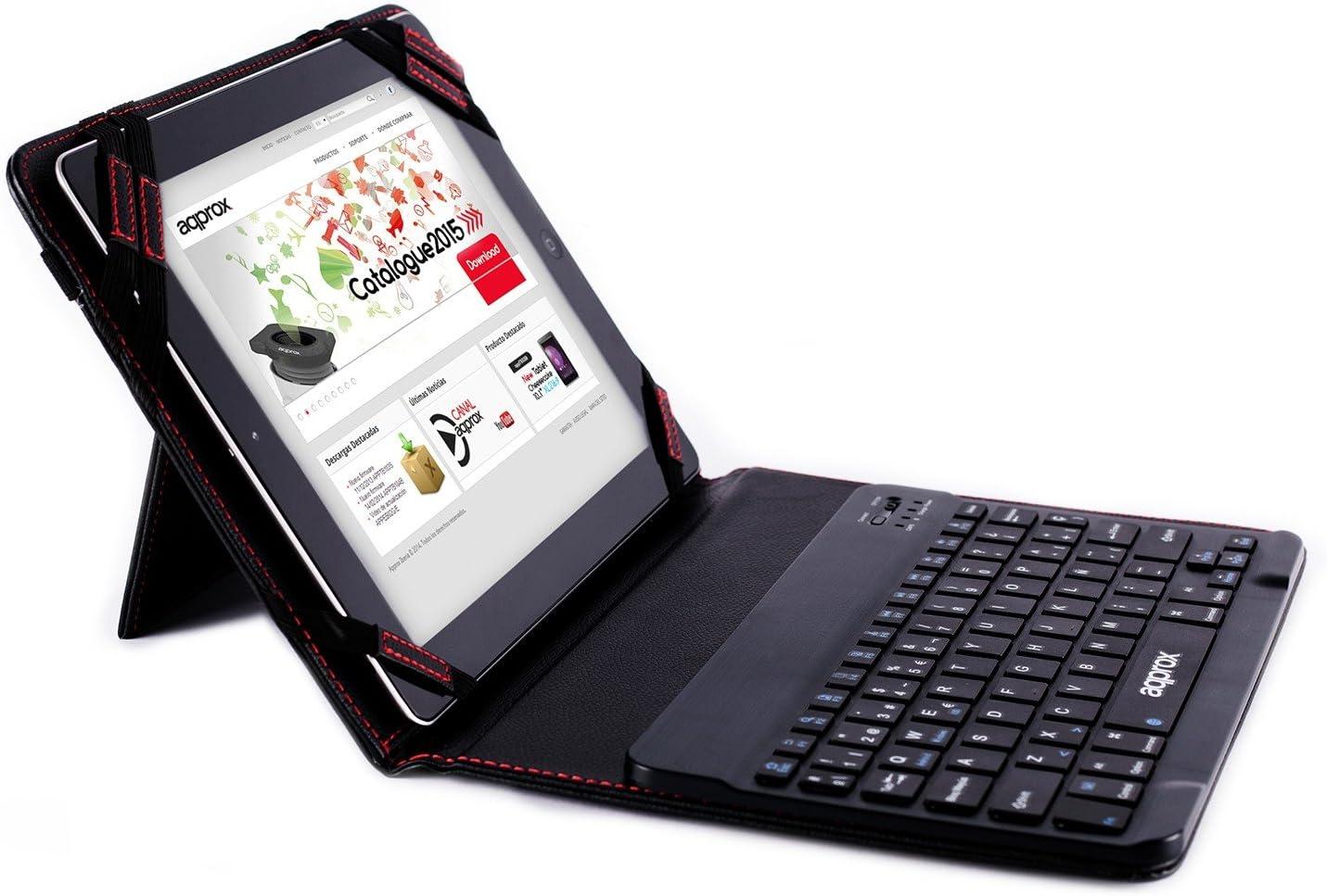 """Approx APPIPCK06 - Funda con Teclado Bluetooth para Tablets 9.7"""" & 10.1"""", Color Negro"""