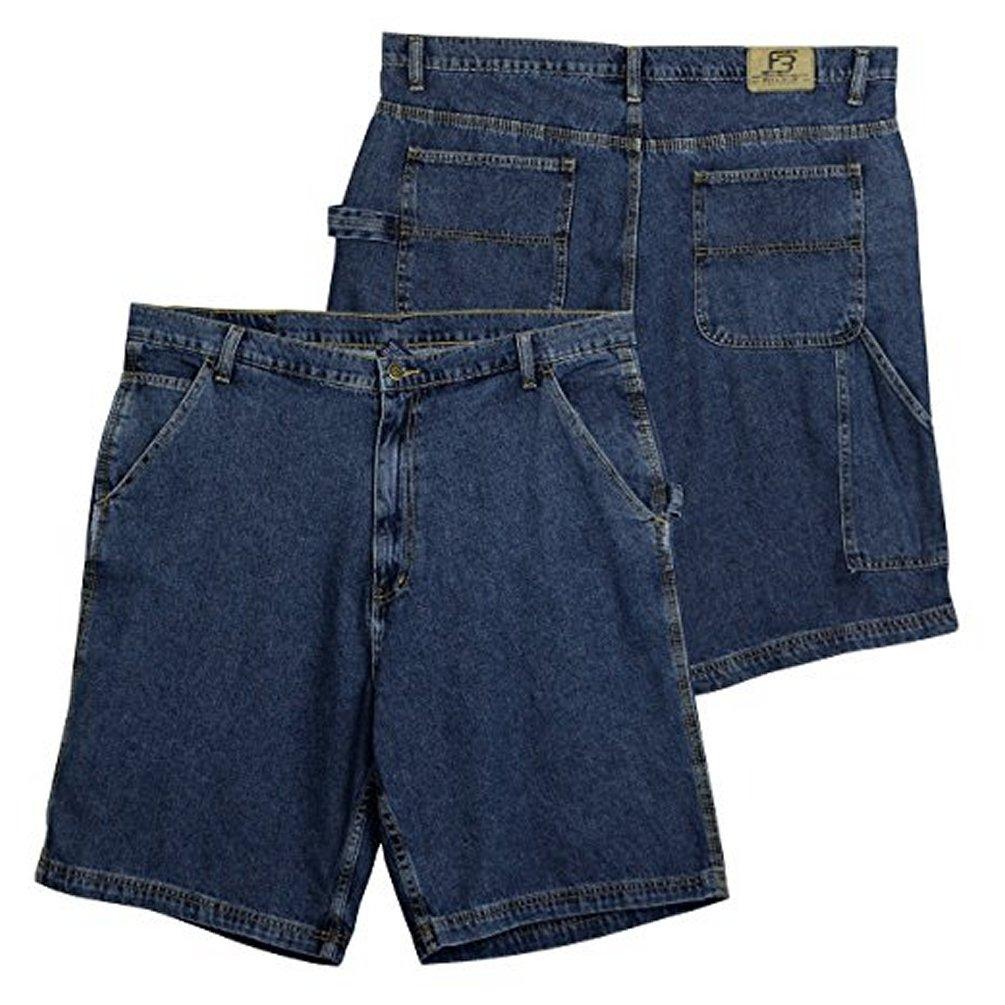 Full Blue Big Mens Denim Carpenter Short