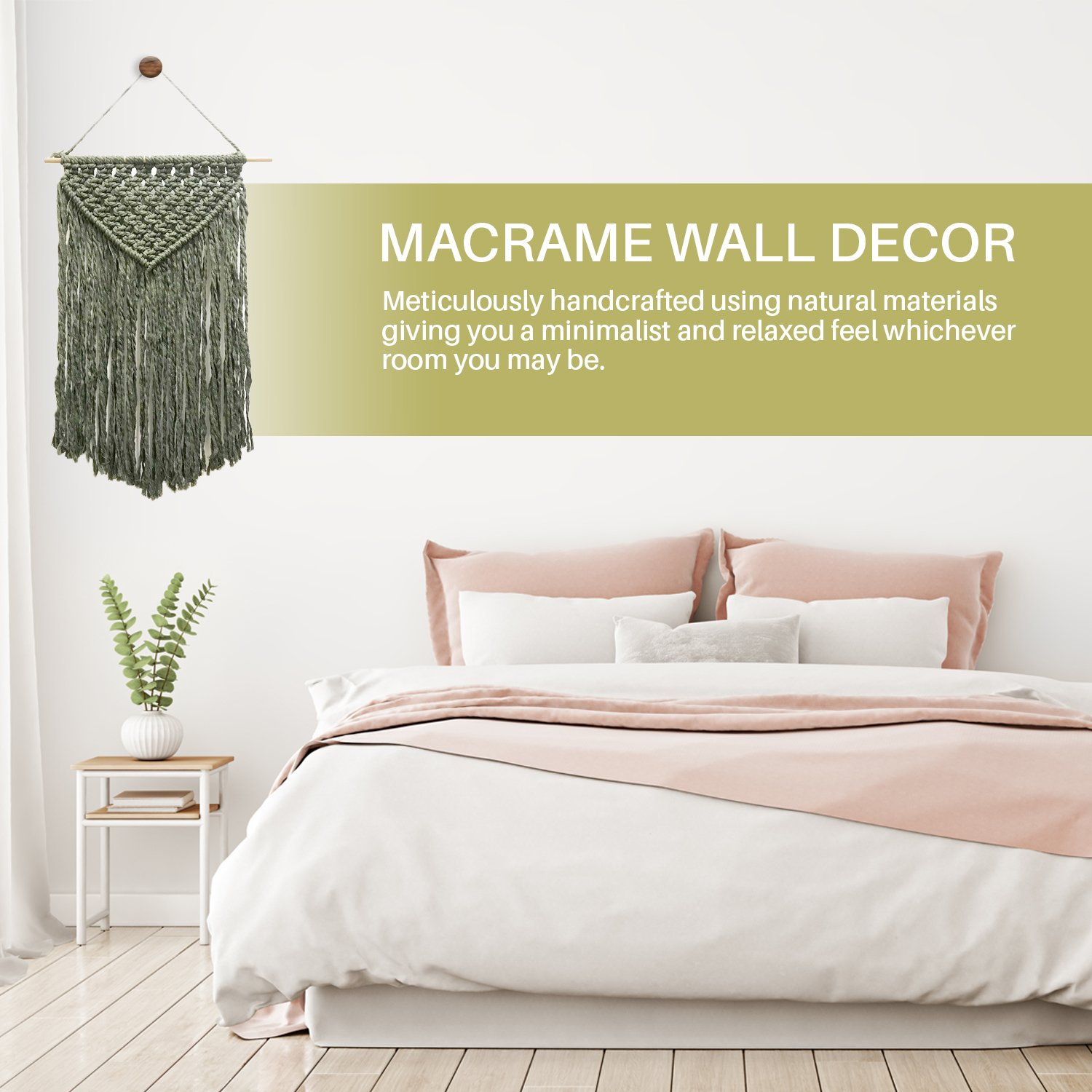 Amazon.com: Cheerful with Color Macrame Wall Hanging :: 100% Pure ...