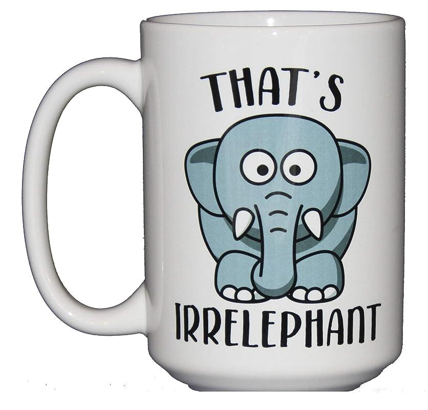 Cute Kawaii Cartoon Elephant Puns Coffee Mug Thats Irrelephant Irrelevant