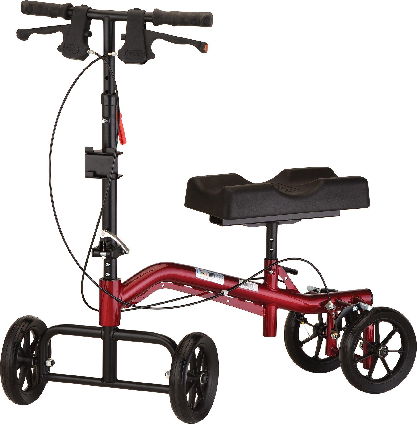 NOVA Medical Products Heavy Duty Knee Walker, Red
