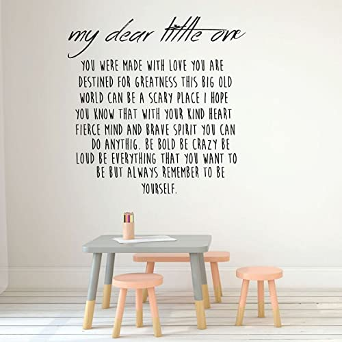 . Children Room Decor   My Dear Little One   Boys or Girl s Bedroom  Decoration  Playroom or Nursery Room
