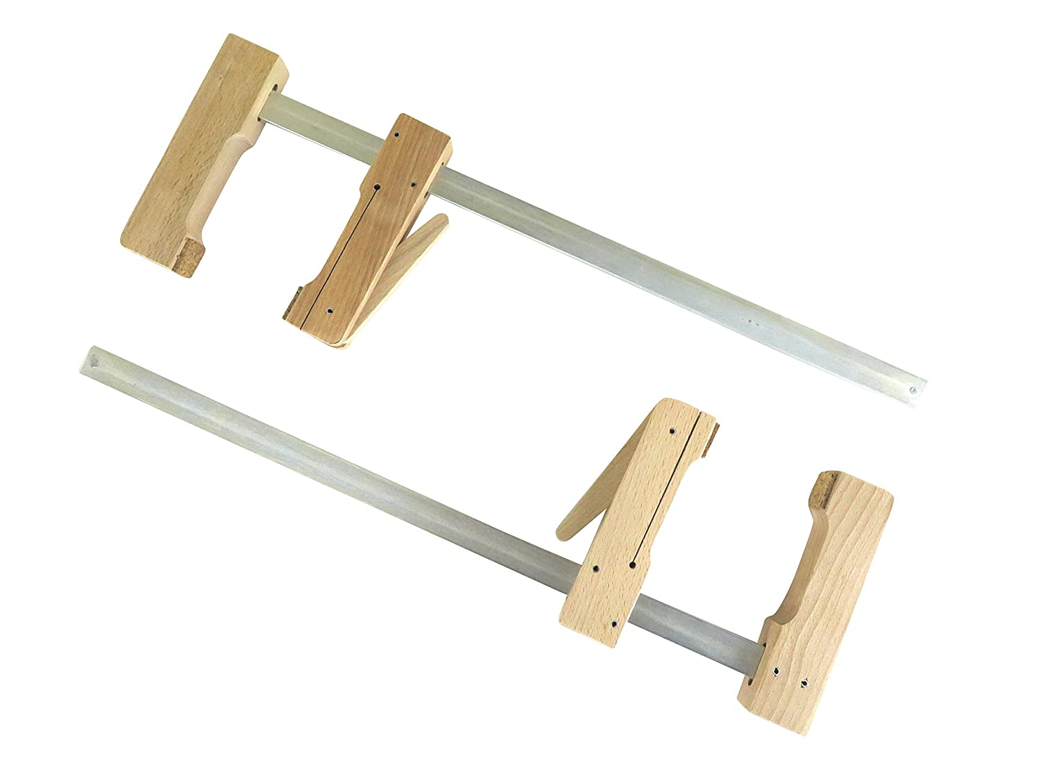 """2 each Pair Taytools 30-400 Wooden Wood Cam Action Clamps 15 1/2"""" Opening by 4-1/4"""" Depth European Beech"""