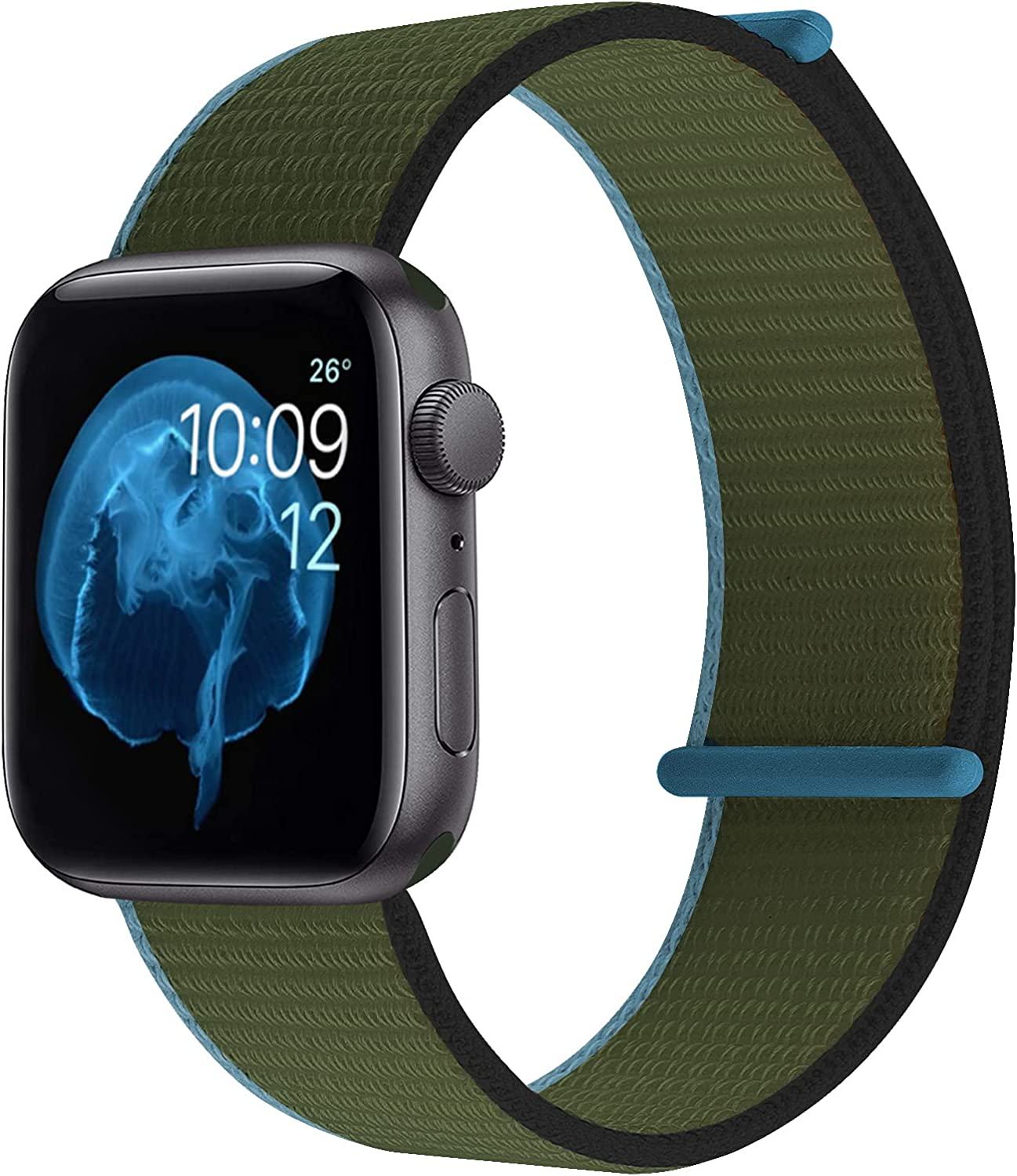 OMECKY Sport Nylon Watch Bands Compatible with Apple Watch Serices 6 5 4 3 2 1 SE Straps, Soft & Breathable Replacement Wristbands for iWatch 38mm 40mm 42mm 44mm