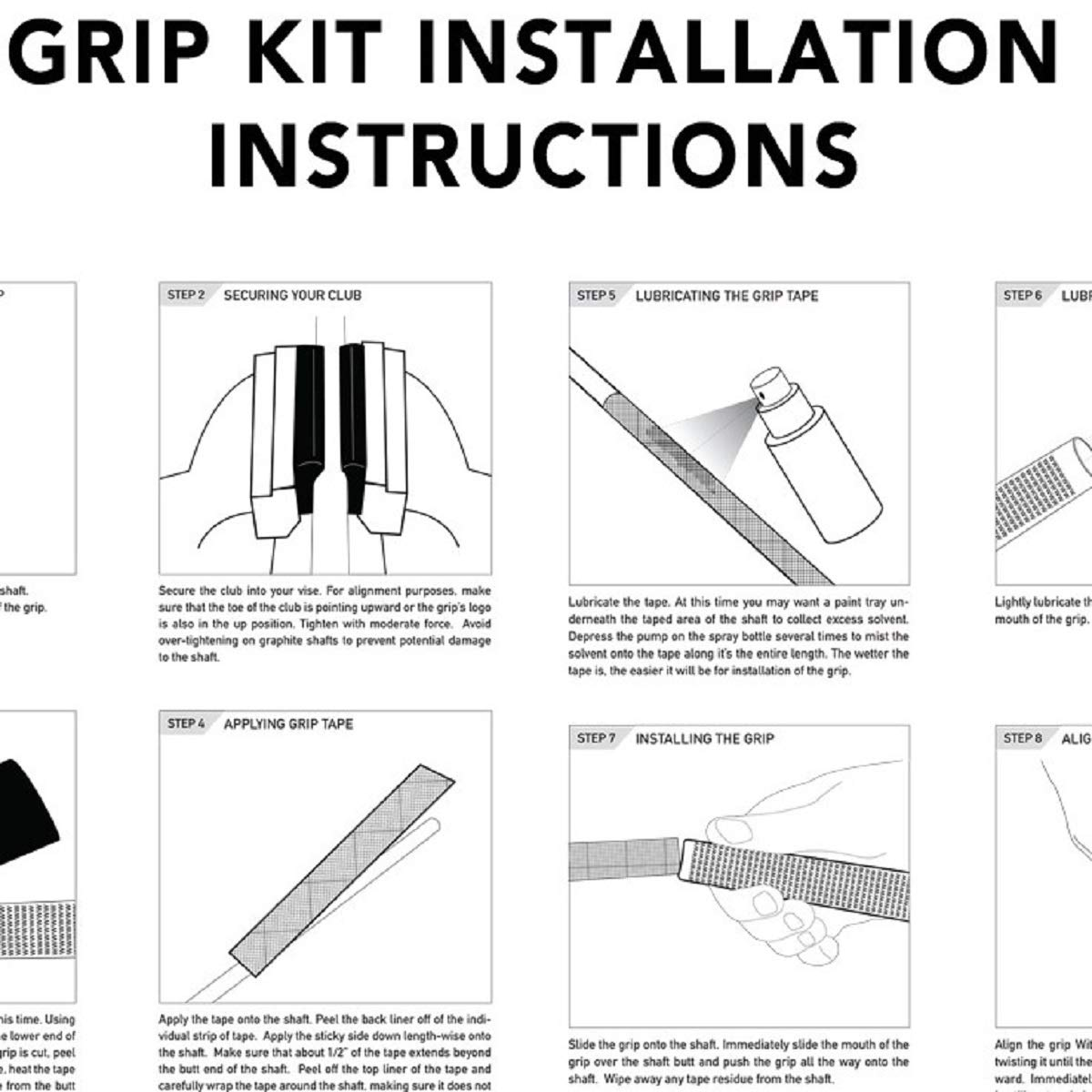 Winn Dri-Tac Midsize (+1/16'') Black - 9 Piece Golf Grip Bundle by Winn (Image #2)