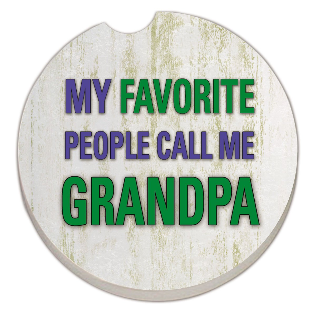Counter Art Absorbent Stoneware Car Coaster, Grandpa by CounterArt B00SB2KP9K | Queensland
